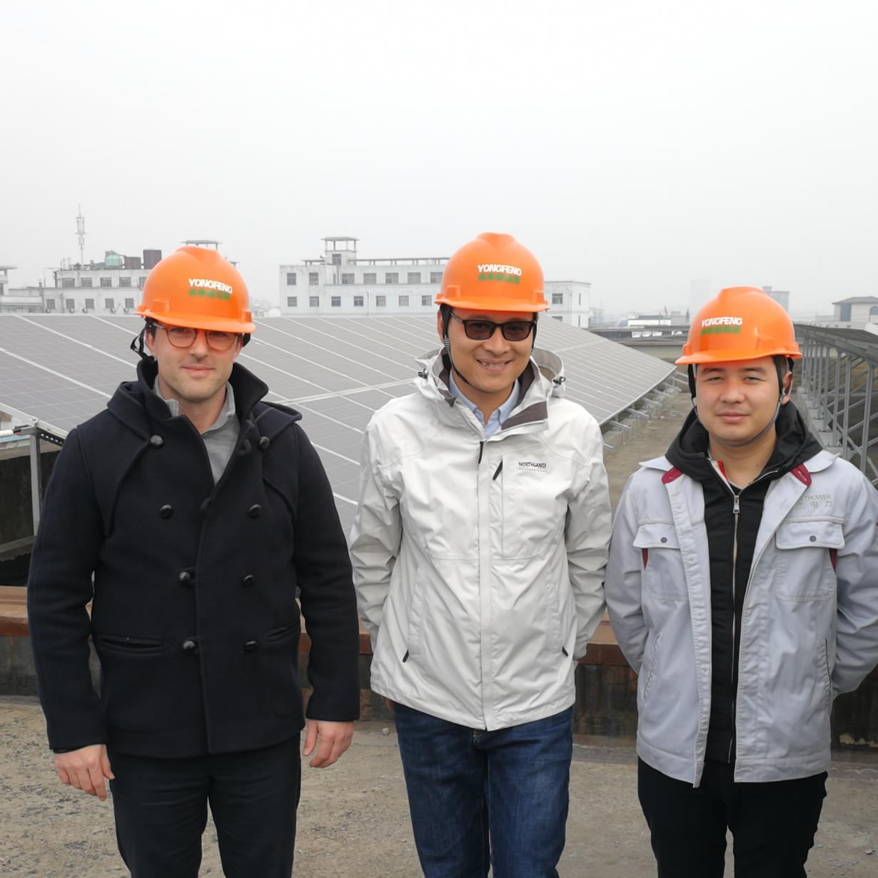 French Buyer visit our solar project